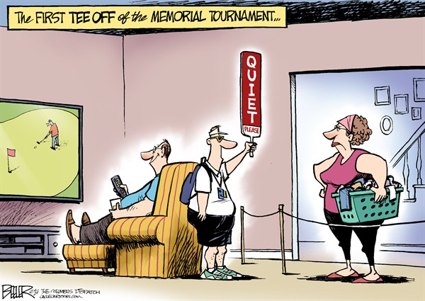 149041 600 LOCAL OH   Memorial Tournament cartoons