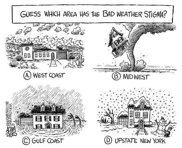 Adam Zyglis - The Buffalo News - LOCAL NY STATE weather - English - new york, ny state, ny, upstate ny, snow, weather, winter, stigma, midwest, west coast, gulf coast, flooding, wildfires, fire, floods, tornado, tornado alley, hurricane