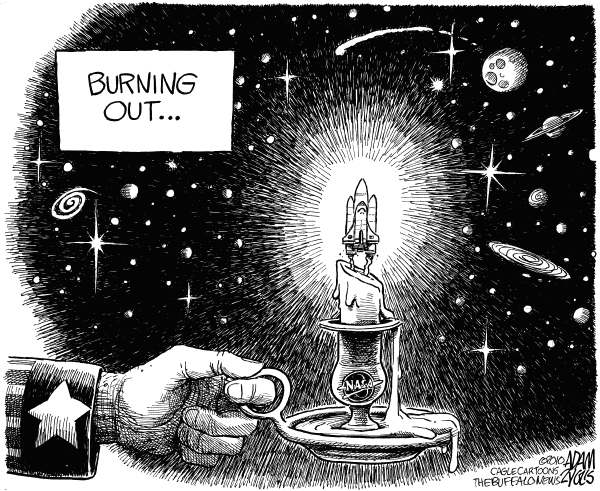 74673 600 Burning Out the Shuttle cartoons