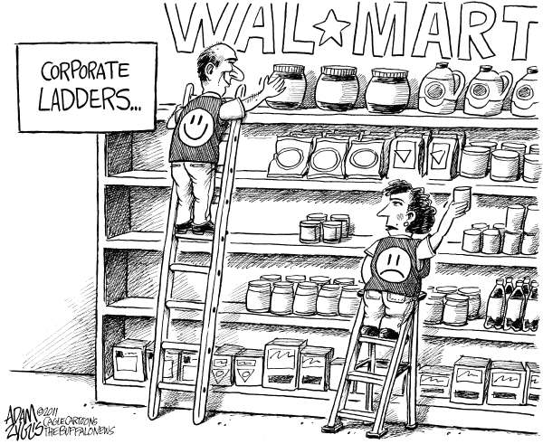 94645 600 Walmart Discrimination cartoons