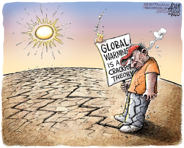 Adam Zyglis - The Buffalo News - Record Heat and Drought Color - English - global warming, hoax, drought, climate change, human, greenhouse gases, emissions, industry, pollution, environment, 2012, heat, record, breaking, weather