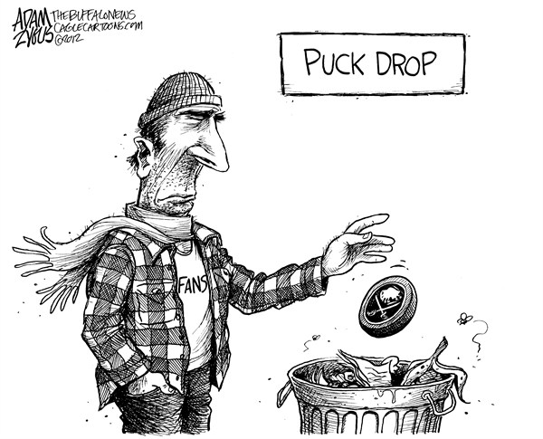 Adam Zyglis - The Buffalo News - NHL Lockout Continues - English - nhl, hockey, lockout, sabres, buffalo, winter classic, puck, drop, fans, professional, sports, entertainment