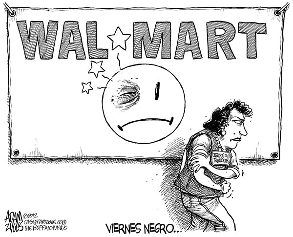 Adam Zyglis - The Buffalo News - Viernes Negro en Walmart - English -