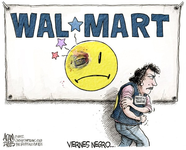 Adam Zyglis - The Buffalo News - Viernes Negro en Walmart / COLOR - English -