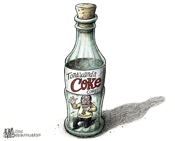LOCAL Tonawanda Coke Corporation © Adam Zyglis,The Buffalo News,tonawanda coke,coke,plant,corporation,factory,air,quality,clean air coalition,environment,asthma,pollution,buffalo,cancer,Health