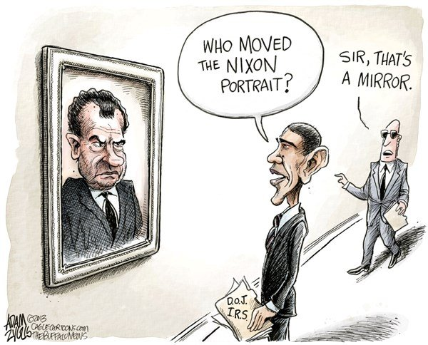 131784 600 Nixon in the White House cartoons
