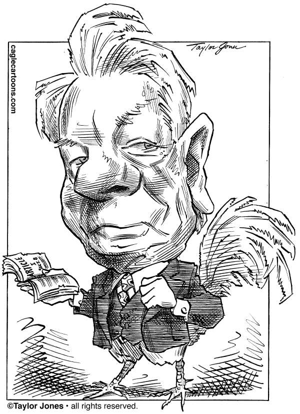 Taylor Jones - Politicalcartoons.com - Senator Robert Byrd 1917-2010 - English - robert byrd,senate,congress,west virginia,constitution,rules of the senate,cloture,filibuster,political pork,byrd