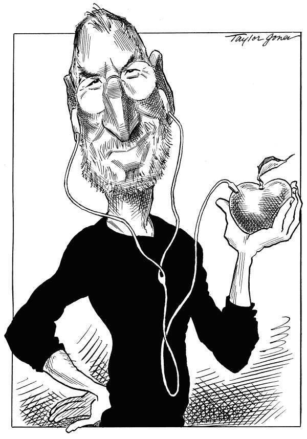 97453 600 Steve Jobs and Apple cartoons
