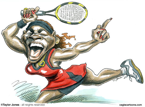 98076 600 Serena Williams cartoons
