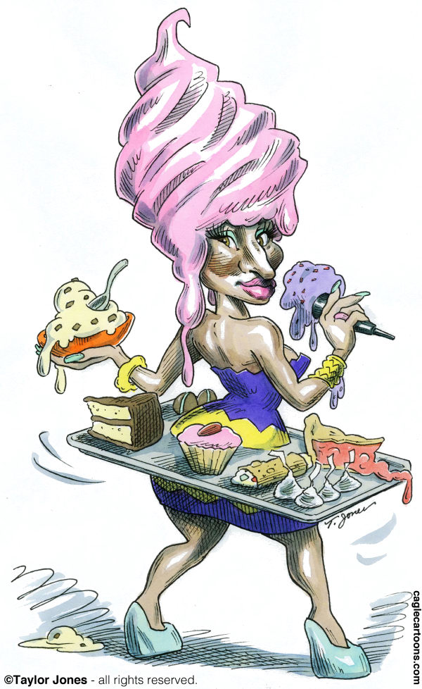 99722 600 Pop singer Nicki Minaj cartoons