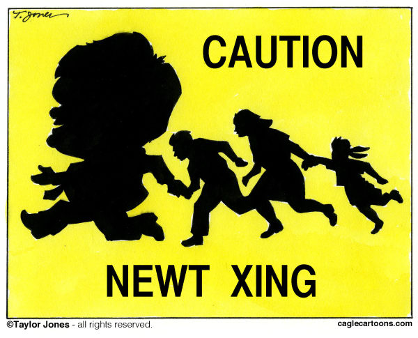 101760 600 Newt on Immigration cartoons