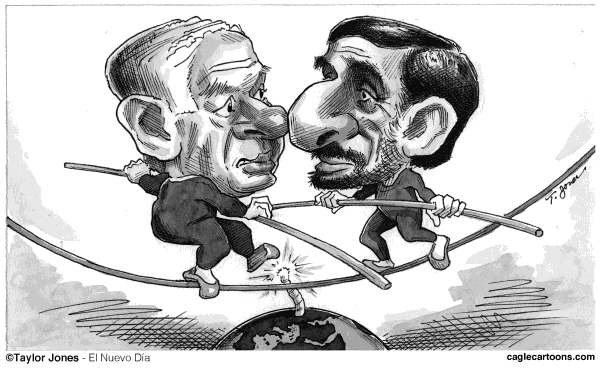 107527 600 Netanyahu vs Ahmadinejad cartoons