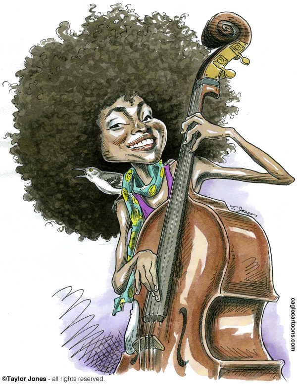 108487 600 Bassist and singer Esperanza Spalding cartoons