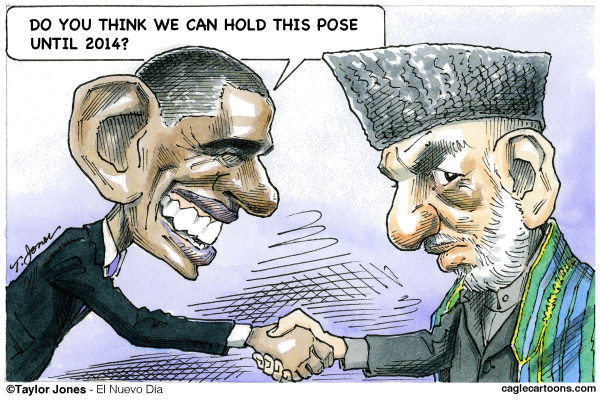 Taylor Jones - El Nuevo Dia, Puerto Rico - Obama and Karzai agree - COLOR - English - obama,barack,barack obama,karzai,hamid,hamid karzai,afghanistan,taliban,afghanistan war,war on terror,kabul