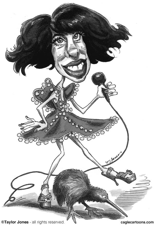 Taylor Jones - Politicalcartoons.com - New Zealand pop star Kimbra - English - kimbra,kimbra johnson,new zealand,music,pop music,popular music,rock music,gotye,kiwi