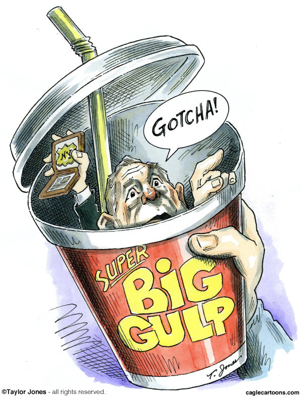 112856 600 Mayor Bloomberg   Big Gulp Police cartoons