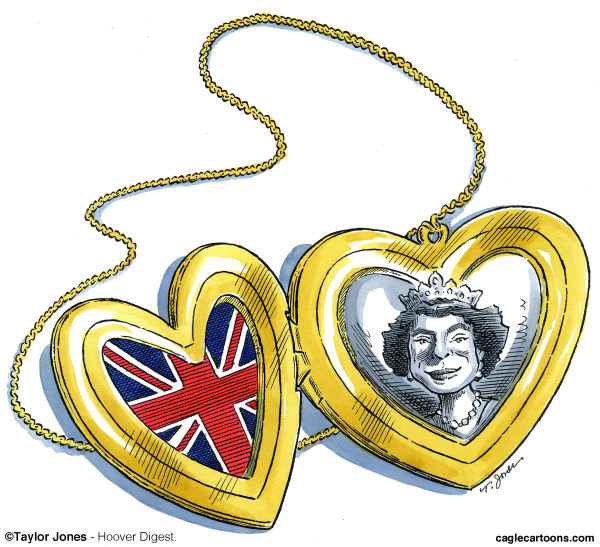 Taylor Jones - Hoover Digest - Queen Elizabeth commemorative locket - English - elizabeth,queen,queen elizabeth,queen elizabeth II,QEII, jubilee,elizabeth jubilee,england,great britain,royal family,british royal family