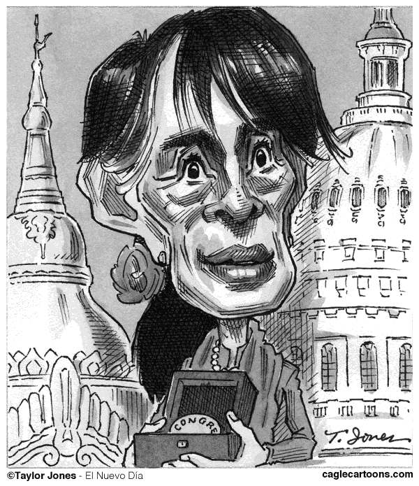 Taylor Jones - El Nuevo Dia, Puerto Rico - Aung San Suu Kyi in Washington - English - aung,daw aung,aung san suu kyi,suu kyi,myanmar,burma,washington,freedom,democracy,congress,human rights,southeast asia