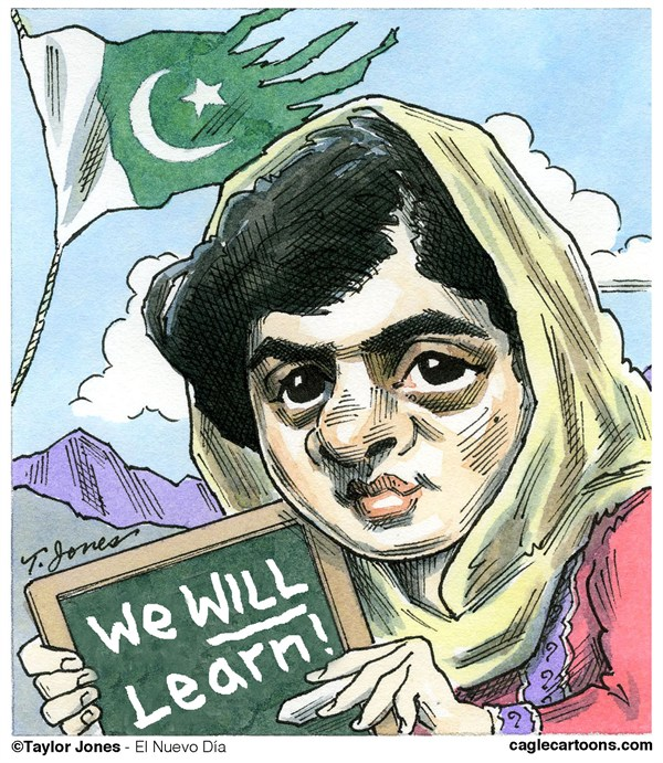 120449 600 Childrens advocate Malala Yousafzai cartoons