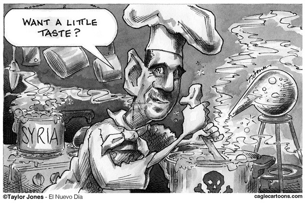 Taylor Jones - El Nuevo Dia, Puerto Rico - Bashar Assad - Final Solution - English - assad,bashar,bashar assad,syria,syrian civil war,arab spring,chemical weapons