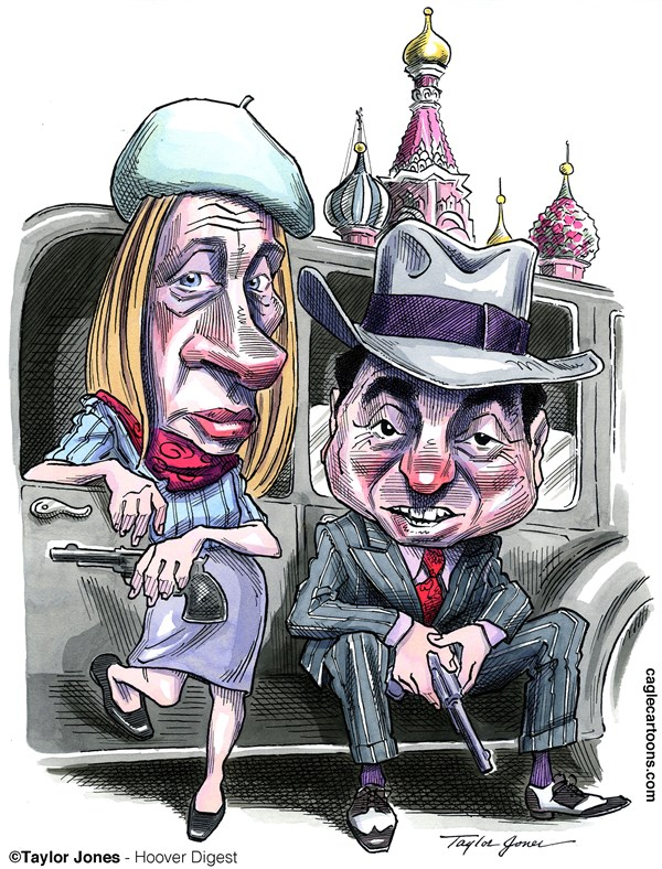 Putin and Berezovsky   Once Allies © Taylor Jones,Hoover Digest,vladimir,putin,boris,berezovsky,russia,moscow,london,oligarchs,tycoons,kleptocracy,bonnie,clyde