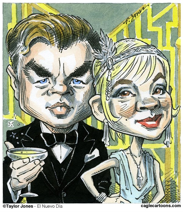 131644 600 Gatsby stars DiCaprio and Mulligan cartoons