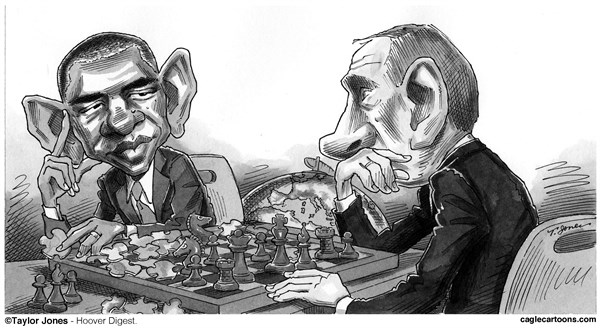 Taylor Jones - Hoover Digest - Obama and Putin - The Great Game - English - barack,obama,vladimir,putin,strategy,gamesmanship,syria,middle,east,chess,puzzles
