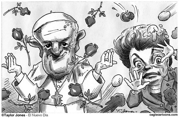 Taylor Jones - El Nuevo Dia, Puerto Rico - Pope Francis and Dilma Roussef - English - pope,francis,dilma,roussef,brazil,catholic,vatican,pontiff,poverty