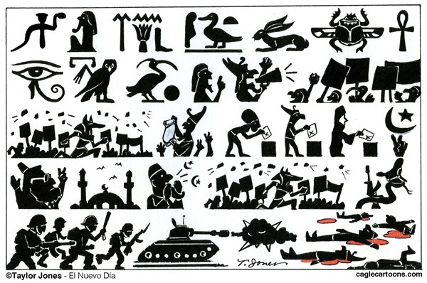 Egyptian hieroglyphics © Taylor Jones,El Nuevo Dia, Puerto Rico,egypt,hieroglyphics,egyptian,coup,mohamed,morsi,abdel,fattah,el-sisi,islamic,brotherhood,massacre,military,dictatorship,martial,law,state,of,emergency,egypt failing