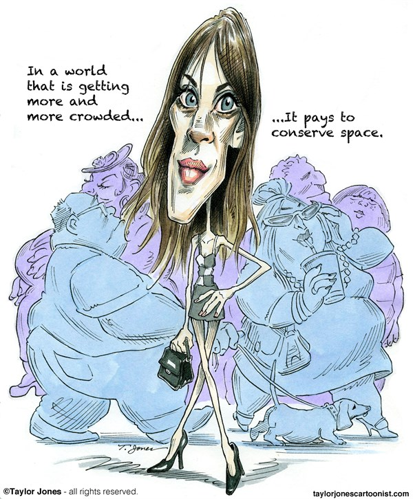 137876 600 British fashionista Alexa Chung cartoons