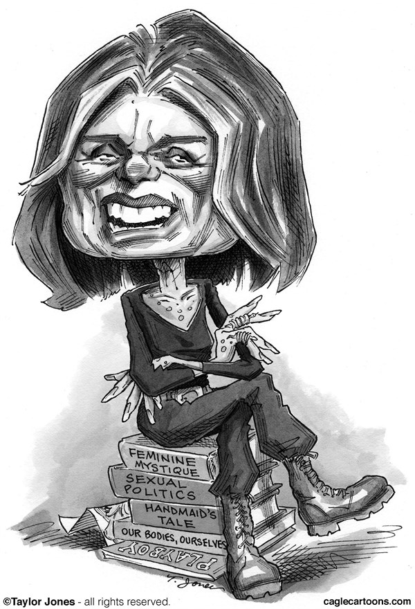 Taylor Jones - Politicalcartoons.com - Medal of Freedom recipient Gloria Steinem - English - 		gloria,steinem,medal,freedom,womens,rights,feminism,playboy