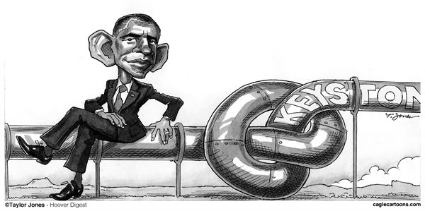 Taylor Jones - Hoover Digest - Obama Keystone quandary - repost - English - barack,obama,keystone,pipeline,energy,policy,fossil,fuels,tar,sands,canada,environment,oil,gas,industry