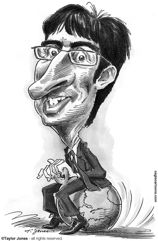Taylor Jones - Politicalcartoons.com - John Oliver - English - 		john,oliver,comedy,central,HBO,television,political,satire,british,comedian,daily,show