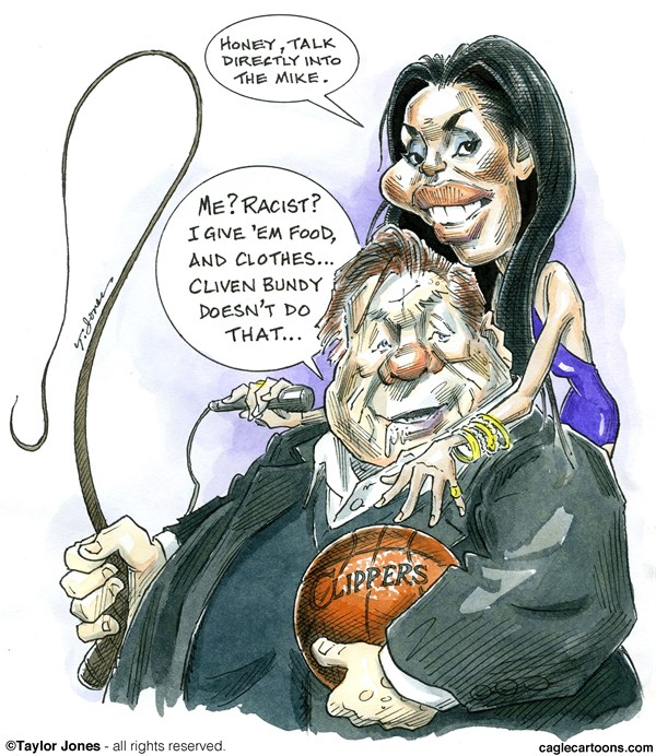 147837 600 Donald Sterling and girlfriend cartoons