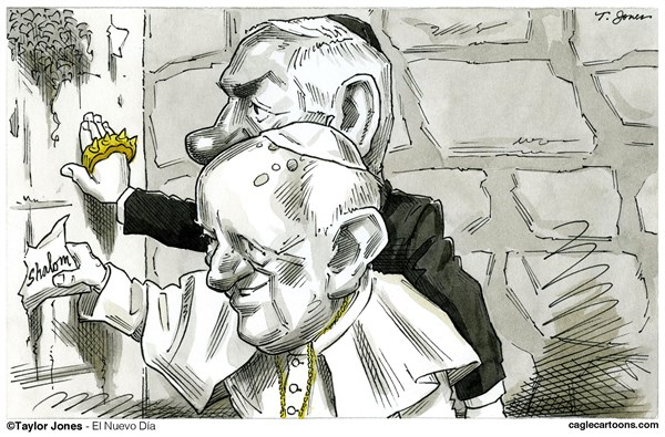 Taylor Jones - El Nuevo Dia, Puerto Rico - Pope Francis and Netanyahu - COLOR - English - pope,francis,benjamin,netanyahu,bibi,israel,palestine,vatican,holy,land,middle,east,peace,shalom,western,wailing,wall