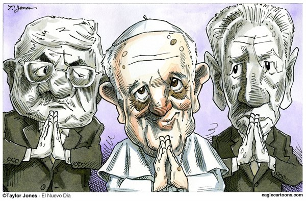 149607 600 Peres Abbas Vatican Prayer Summit cartoons