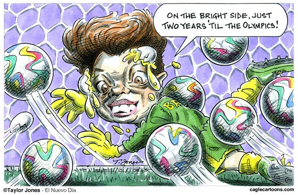 Dilma looks to the future © Taylor Jones,El Nuevo Dia, Puerto Rico,dilma,rousseff,brazil,world,cup,soccer,rio,olylmpics,2016,goaltending