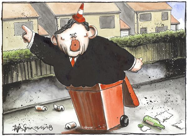 Iain Green - The Scotsman, Scotland - Gordon Brown Not Taxing Your Rubbish - English - Gordon Brown, british prime minister, tax, economy