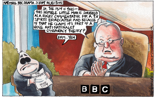 MR SCOTLANDS 15 MINUTES OF FAME DENIED © Iain Green,The Scotsman, Scotland,Scotland, alex salmond, scottish referendum, scottish independence, chris patten, bbc, rugby, sport, sports commentators