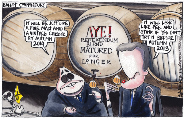 107013 600 SCOTTISH REFERENDUM MALT cartoons