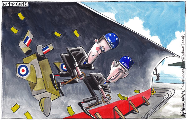 Iain Green - The Scotsman, Scotland - UK AIRCRAFT CARRIER FARCE - English - UK, defence, aircraft carrier, jump jets, david cameron, philip hammond, dry dock, mothballed ship, ministry of defence,