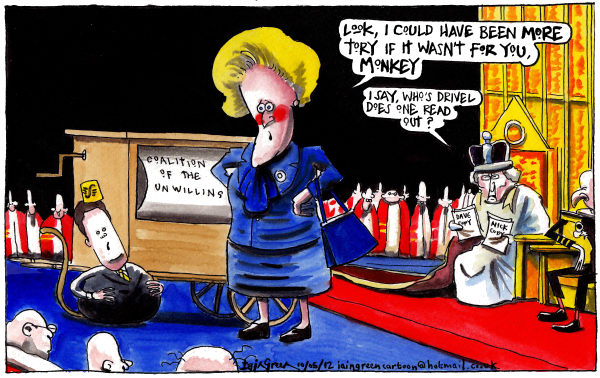 Iain Green - The Scotsman, Scotland - I WANNA BE MORE TORY - English - uk, david cameron, nick clegg, queens speech, liberal democrats, conservatives, coalition governement, house of lords