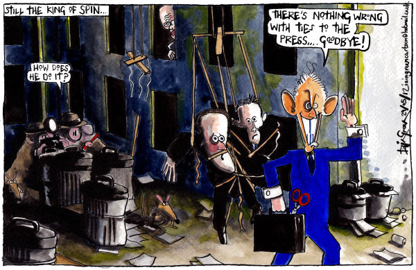 112601 600 TONY BLAIR AT LEVESON INQUIRY cartoons