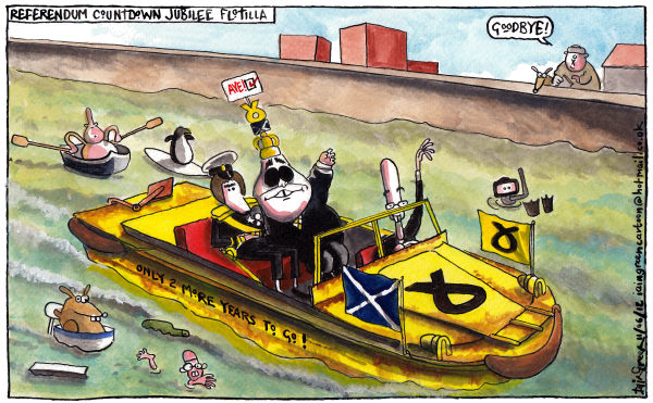 113495 600 SCOTTISH REFERENDUM COUNTDOWN JUBILEE cartoons