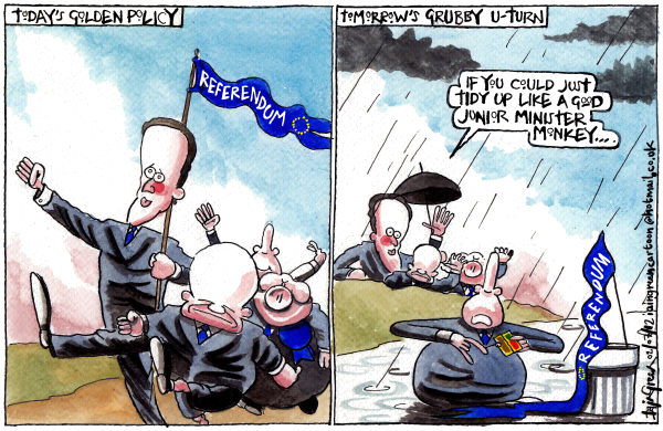 Iain Green - The Scotsman, Scotland - UK TORY GOVERNMENT U TURNS - English - UK, conservatives, tories, david cameron, william hague, EU referendum, eu, europe,