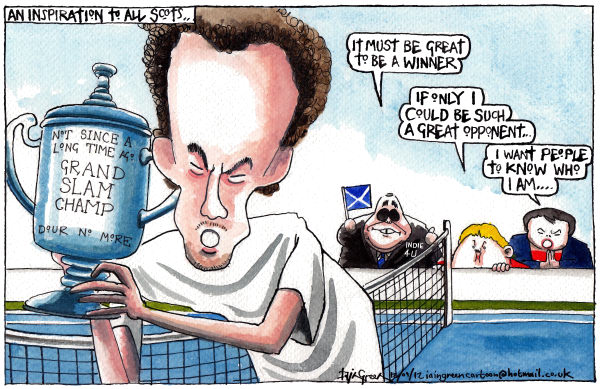 Iain Green - The Scotsman, Scotland - ANDY MURRAYS SCOTTISH INSPIRATION - English - Scotland, tennis, andy murray, open, grand slam, alex salmond, johann lamont, ruth davidson