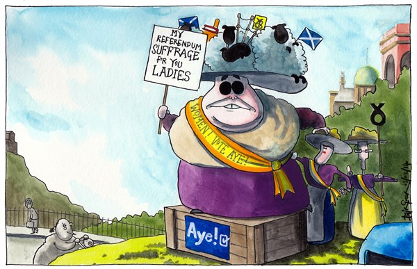 143852 600 SCOTTISH SNP WOMEN VOTERS APPEAL cartoons
