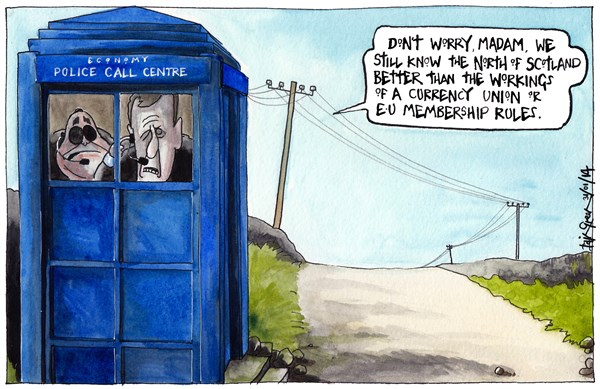 Iain Green - The Scotsman, Scotland - SCOTTISH EMERGENCY CALL CENTRE CUTS - English - Scotland, UK, alex salmond, kenny macaskill, police call box, rural, north of scotland, emergency phone call, cuts, closures, country lane, jobs, safety, telephone poles