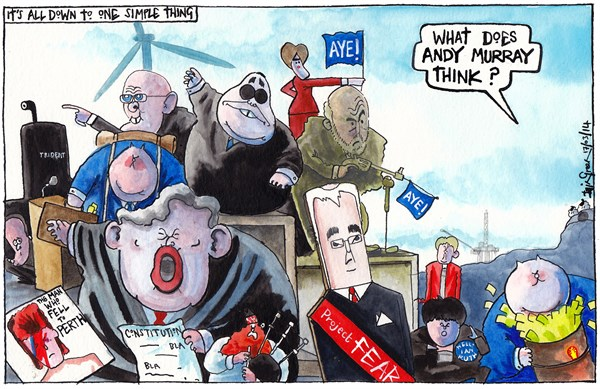 146423 600 SCOTTISH REFERENDUM BIG QUESTION cartoons