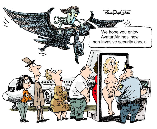 75605 600 Avatar Airline Security Check cartoons